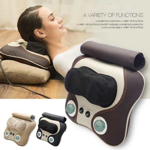 Massager Pillow Electric Massage Neck Pillow Relieve Cervical Vertebrae Fatigue For Home Office Rest