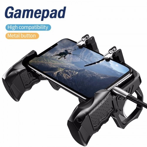 K21 PUBG Game Controller Gamepad Joystick Metal Trigger Shooting Button Free Fire Grip