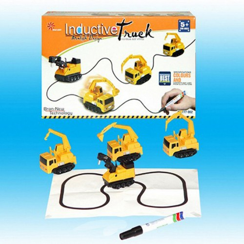 Mini Track Childrens Inductive Truck Tank Toy Car Magic Pen Draw Lines Induction Rail Track