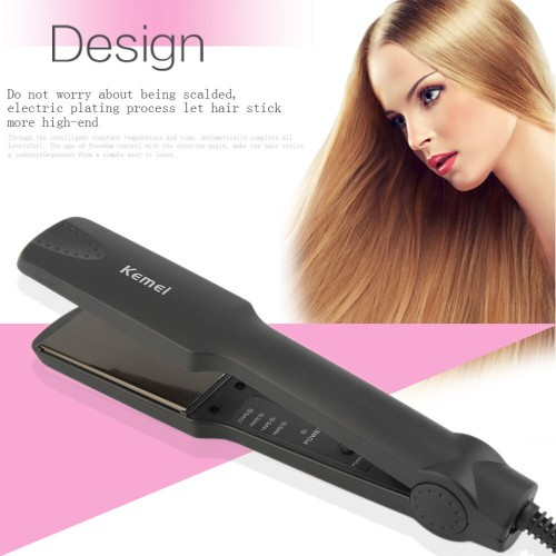 Kemei Professional Hair Straighteners Flat Iron Tourmaline Ceramic Hair Care Styling Tool