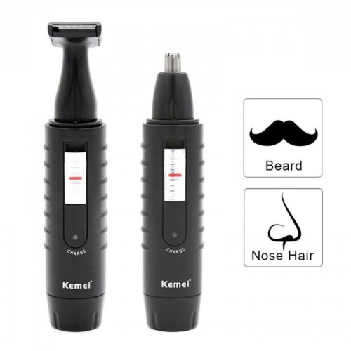 Electric Nose Hair Trimmer Rechargeable 2 in 1 Beard Shaver HIgh Quality
