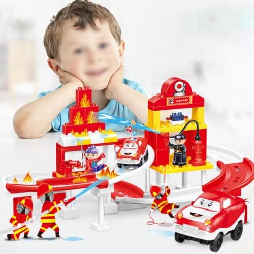 Children Assemble Toy Flexible Railway Train Bricks Set Educational Toys