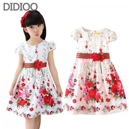 Girls Summer Dress Floral Print