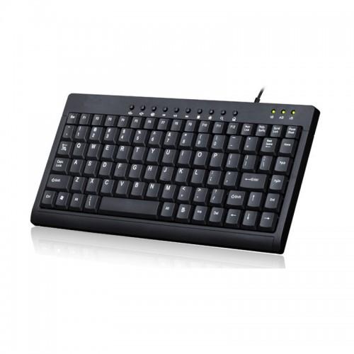 Mini Multimedia Keyboard For Desktop Computer 87 Keys Multimedia Wired Keyboard