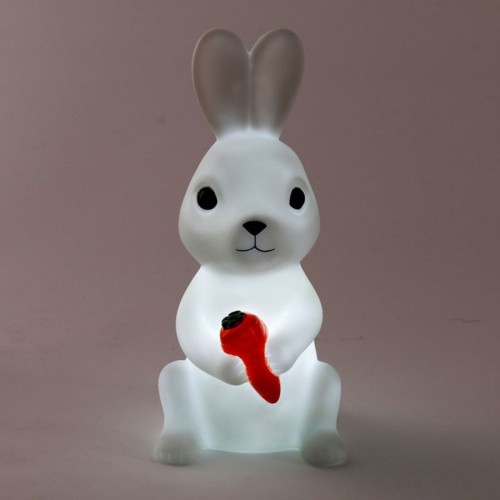 Led Lovely Creative Night Lamp Rabbit Lights High Quality Silicone Dolls Nightlight Baby Bedroom Table Lamp