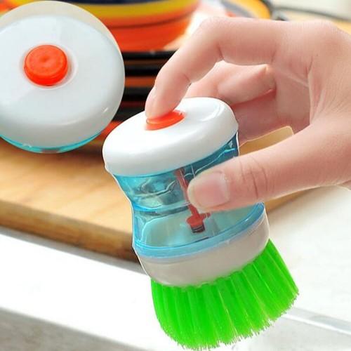 Plastic Kitchen Pot Dish Washing Brush With Washing Up Liquid Brush