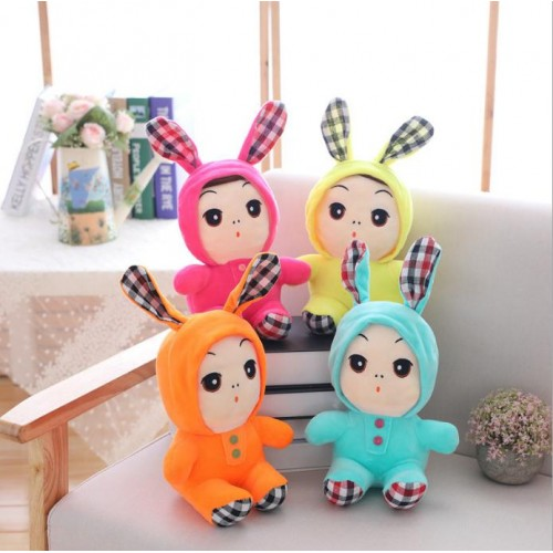 Long-eared Rabbit Plush Doll Miniature Cute Toy