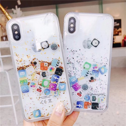 Luxury Dynamic Liquid Quicksand Soft Cover Case For IPhone Huawei Samsung