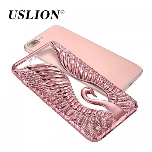 Luxury Electroplated Cute Swan Ultrathin iPhone Cover Back Cases