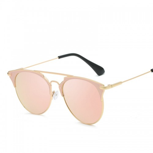 Luxury Vintage Round Sunglasses Women Designer Cat Eye Sunglasses