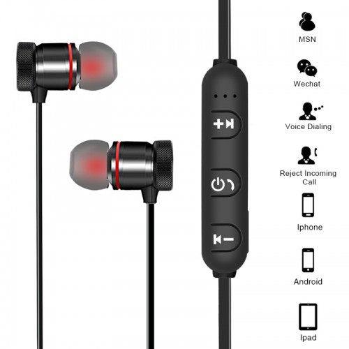 Bluetooth Wireless Headphone In-Ear Noise Reduction Sports Earphone With Mic Sweat-proof Stereo Earbuds