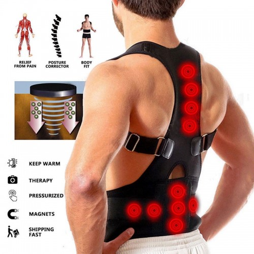 Magnetic Therapy Posture Corrector For Men Women Back Support Brace Spine Correct