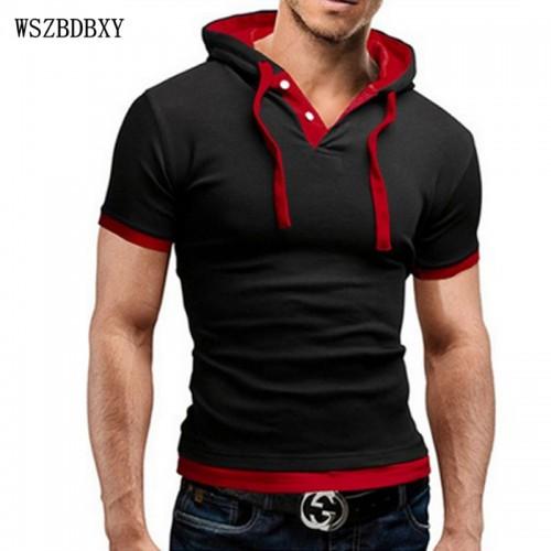 Hooded Sling Short-Sleeved T-Shirt