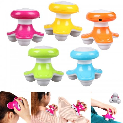 Mini Wave Vibrating Massager USB Battery Electric Handled Full Body Massage Tool