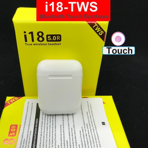 i18 TWS Wireless Earphone Bluetooth 5.0 Headphone Sports Touch Control
