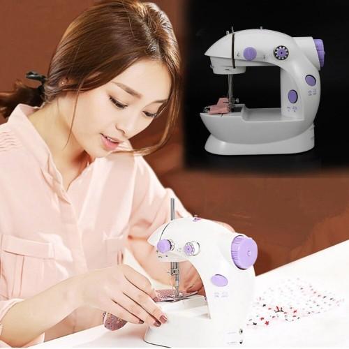 Electric Mini Sewing Machine Home Hand Machine Lock Stitch Adjustment With Light Handheld Portable Machine