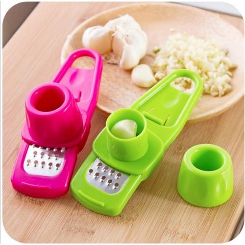Multifunctional Ginger Garlic Press Grinding Grater Planer Slicer Mini Cutter Kitchen Cooking Gadgets Tools Utensils