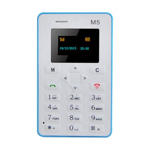 Mini-M5 Slim Card Mobile Phone Ultra Thin Pocket Low Radiation Cellphones Students Children Phone