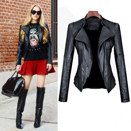 Girls Slim Leather jacket