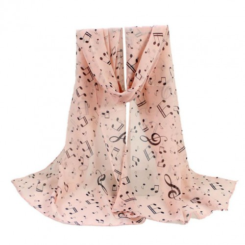 New Arrival 1PC Women Lady Musical Note Chiffon Neck Scarf Shawl Muffler Scarves