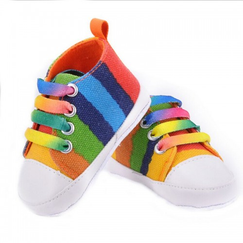 Multi colour Baby Fashion Canvas Shoes Soft Prewalkers Casual Toddler Shoes