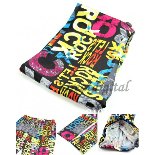 Women Colorful Letters Graffiti Printing Legging