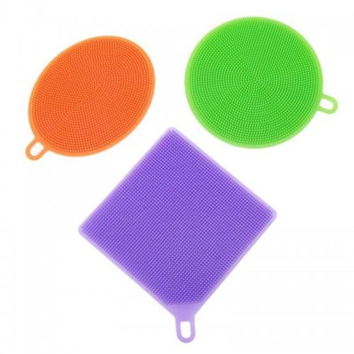 3pc Dishwashing Better Sponge Silicone Silica Magic Gel  Cleaning Washing Sponges