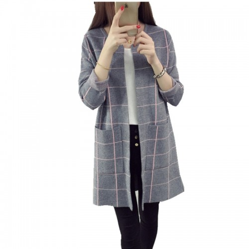 Women Sweaters Cardigans Casual Warm Long Design Female Knitted
