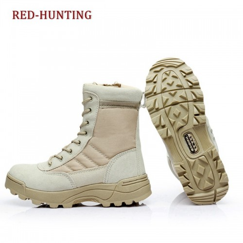 Outdoor Tactical Desert Hiking Leather Boots Military Combat Airsoft Hunting Shoes