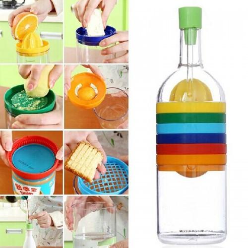 Multifunction 8 in 1 Bottle Funnel Juicer Egg Cracker Shredding Opener Egg Separator Measuring Cup Cooking