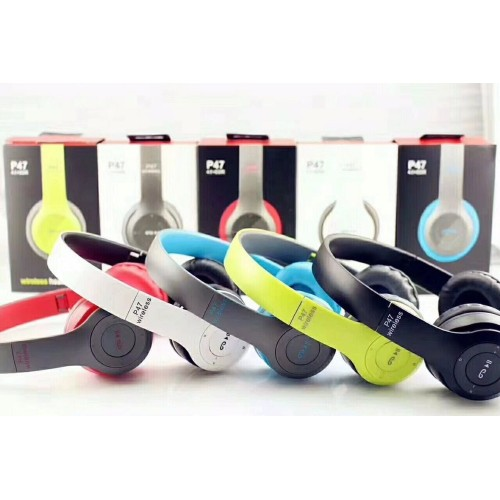 P47 Bluetooth Wireless Headphone Stereo Wireless Headset Outdoor Sports Headphones Subwoofer Headset