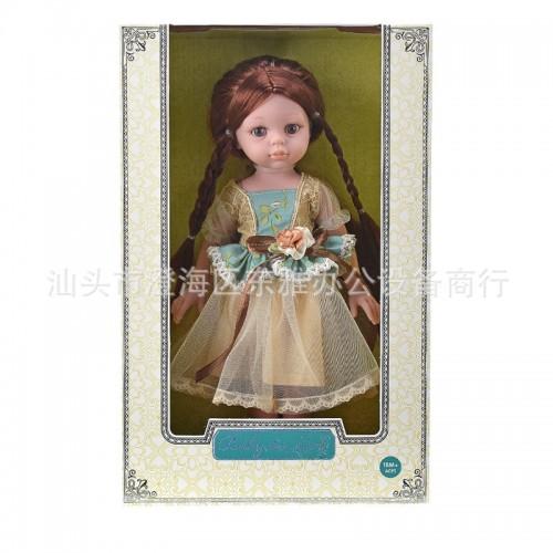 Children 12-Inch Model Erect Doll PVC Girls' Doll Soft Silicone Toy