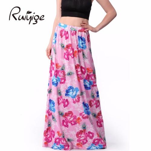 Long Bohemian Pleated Elegant Slim Skirt
