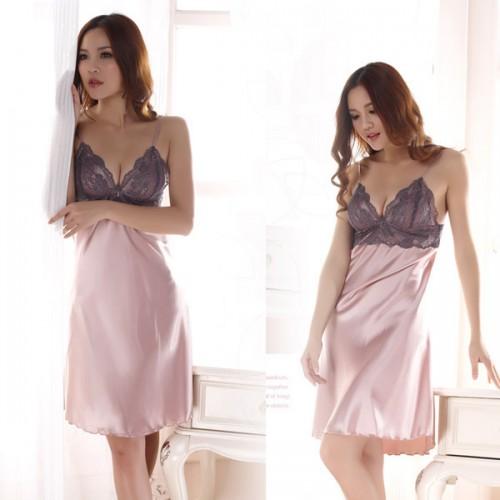 Faux Silk Braces Sleepwear