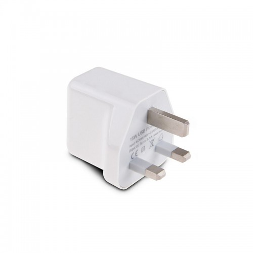 UK Plug 2 in 1 USB Travel Wall Charger Adapter Smart Mobile Phone 15W USB Universal Charger