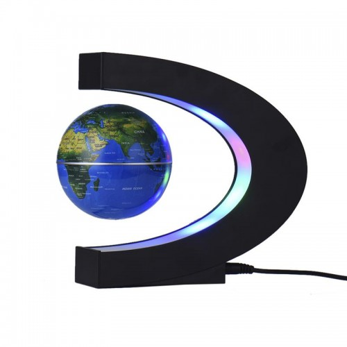LED Night Light C Shaped Globe Atmosphere Lamp Magnetic Suspension Globe Home Decoration