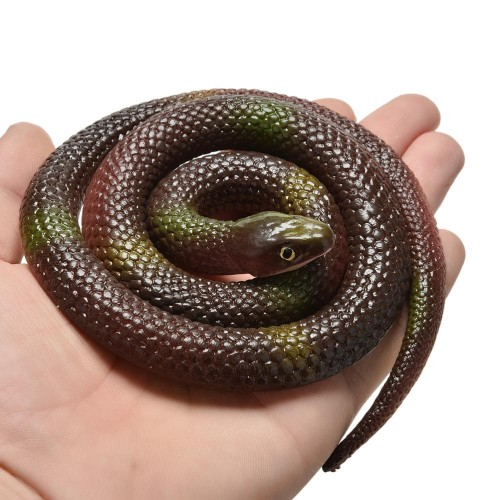 Novelty Halloween Gift Tricky Funny Spoof Toys Simulation Soft Scary Fake Snake Horror Toy