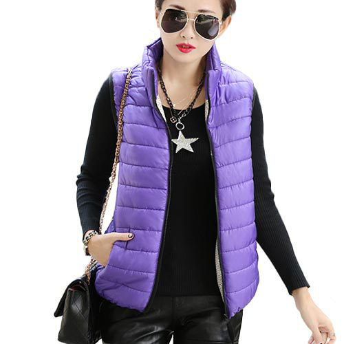 Sleeveless Korean Cotton Paragraph Slim Coat