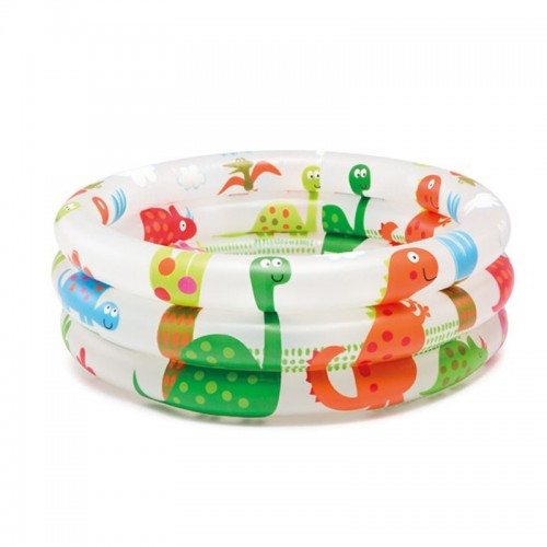Portable 3 Rings Baby Swimming Pool Outdoor Inflatable Bathtub Cartoon Pattern