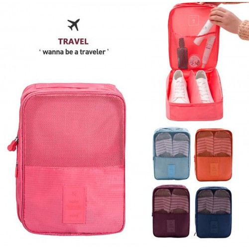 Portable Waterproof Travel Shoes Bag Case Organizer Hold Perfect For Travel Business Trip Outdoor