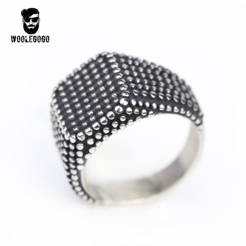 Punk Bumps Dots Geometric Ring Gothic Stainless Steel Finger Rings for Men