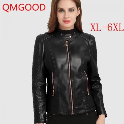 Winter Womens PU Leather Jacket