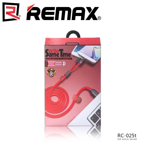 Remax At The Same Time Fast Charging 2 In 1 USB Cable Magnetic Charging High Quality