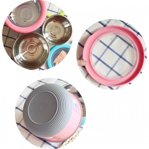 Round Stainless Steel Crisper Box Food Storage Container Kitchen Tool Food Leakproof Storage