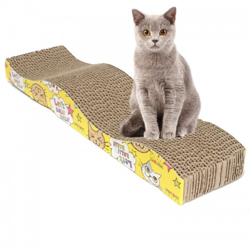 S-Shaped Cat Kitten Corrugated Scratch Board Pad Scratcher Bed Mat Claws Care Interactive Toy For Pet Cat Training