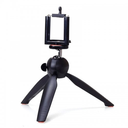 Mini Phone Tripod Tabletop Smartphone Mount Clip Holder Stand Ballhead For Phone