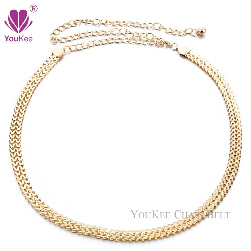 Chain Belt Gold Plated Thin