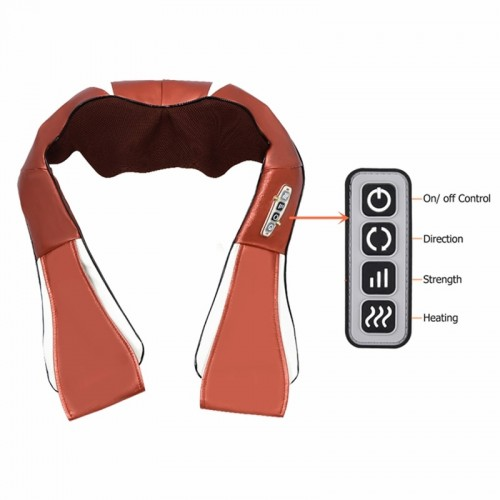 Shiatsu Shoulder Massager Infrared Heating Therapy Kneading Body Shoulder Cervical