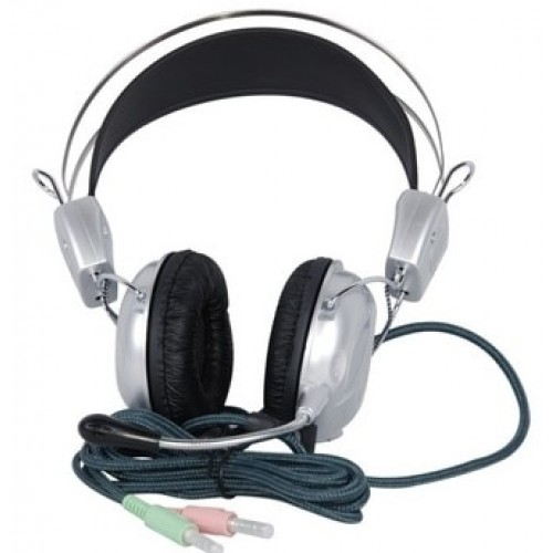 Solic SlR-823MV Headset Stereo Computer Game Earphones Fashion Silver