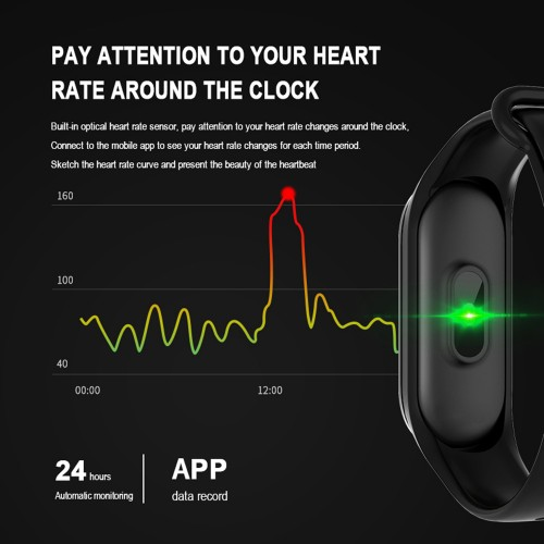 M4 Smart Band Wristband Heart Rate Blood Pressure Monitor Waterproof Pedometer Health Fitness Tracker Bracelet